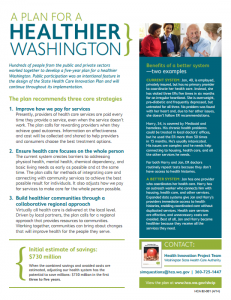 Fact sheet about a Healthier Washington program.